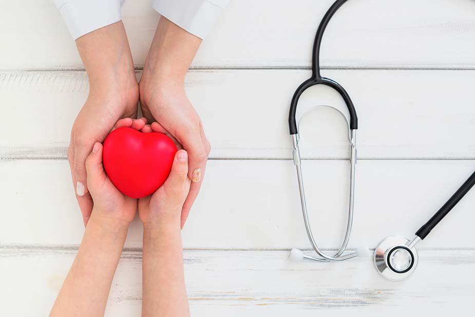 dve ruke drže predmet u obliku srca